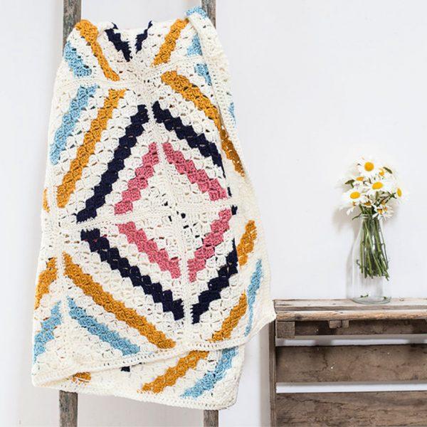 C2C Crochet Cedar River Blanket