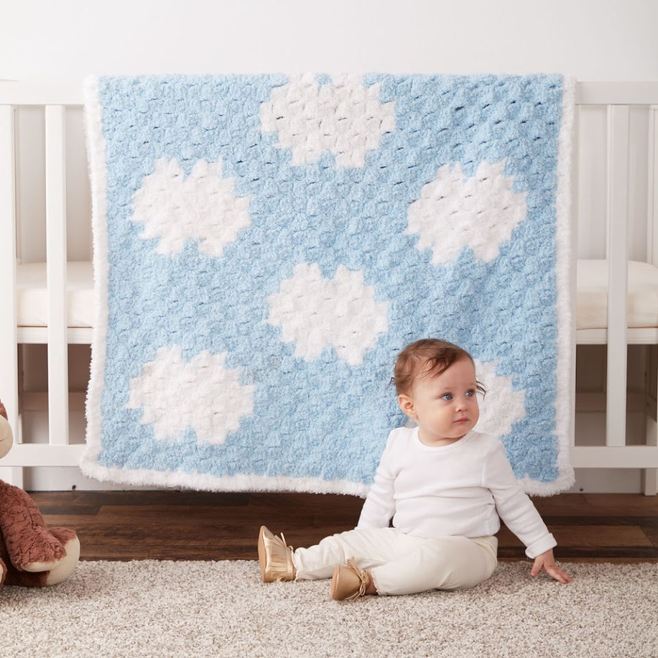 C2C Crochet Dreamy Clouds Baby Blanket