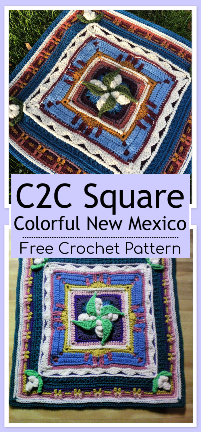 C2C Crochet New Mexico Square Free Pattern