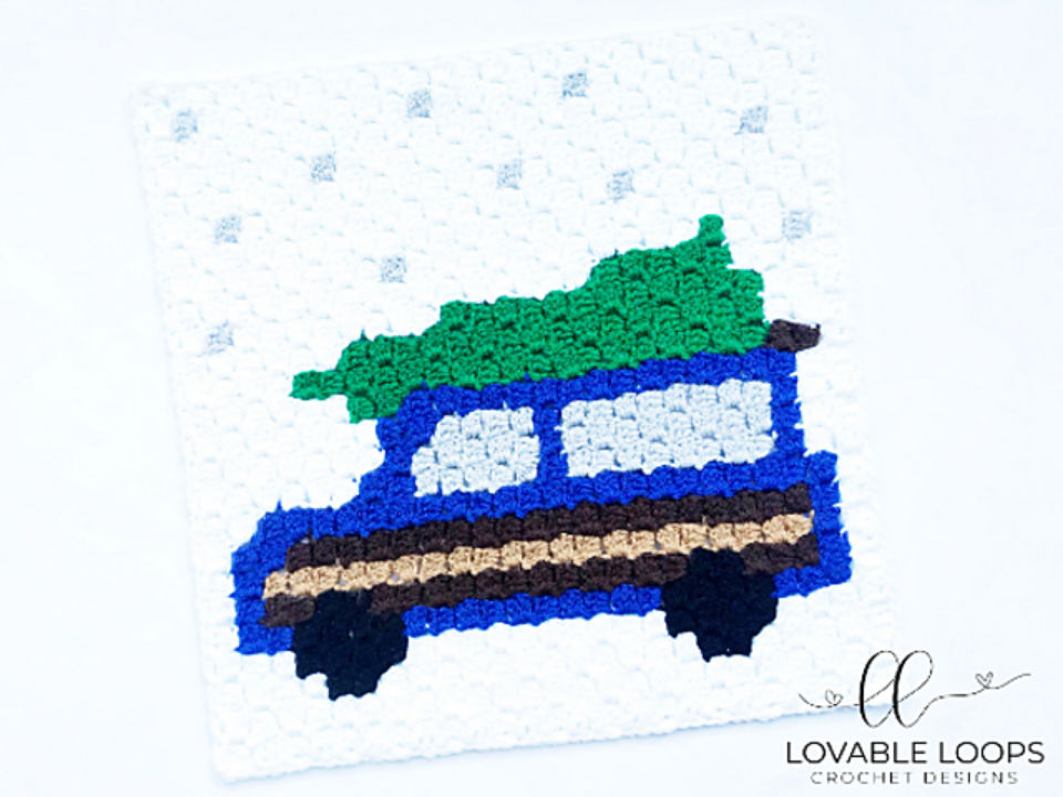 C2C Crochet Station Wagon Square